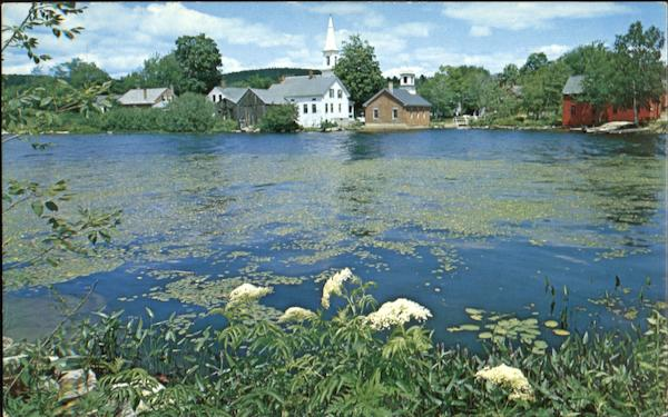 A Charming Spring Setting Found In Harrisville New Hampshire