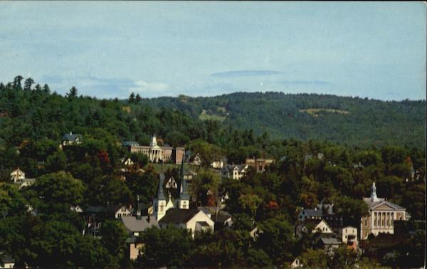 Aerial View Of Picturesque Littleton New Hampshire