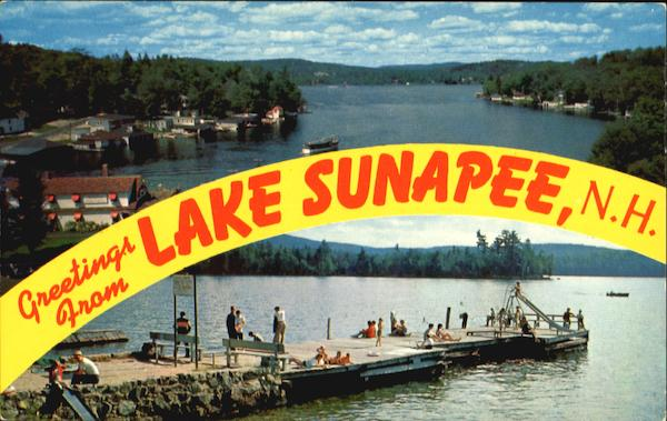 Greetings From Lake Sunapee New Hampshire
