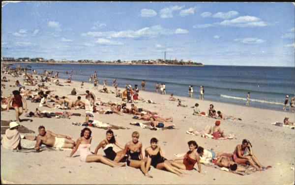 Lovely Bathing Beauties On The Beach Hampton Beach New Hampshire