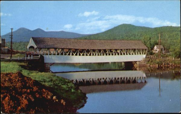 The Covered Bridge At Groveton New Hampshire