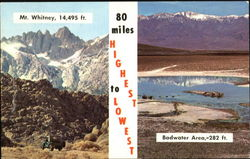 80 Miles Highest To Lowest Postcard