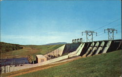 Moore Station And Dam Postcard