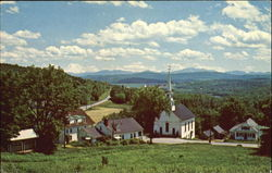 White Village One Of The Most Scenic And Photographed Scenes In Vermont Postcard