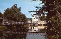 Swinging Bridge Over The Souhegan River