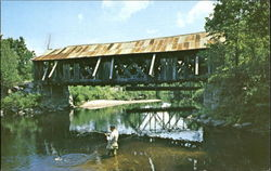 An Old Covered Bridge Postcard