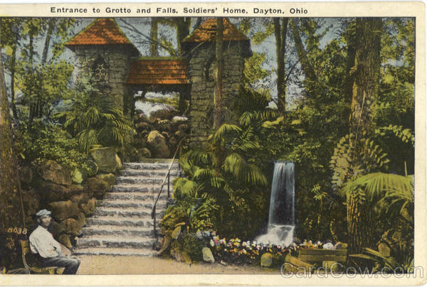 Entrance to Grotto and Falls, Soldiers' Home Dayton Ohio