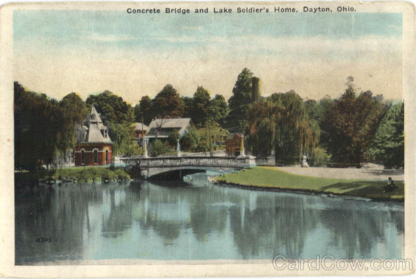 Concrete Bridge and Lake Soldier's Home Dayton Ohio