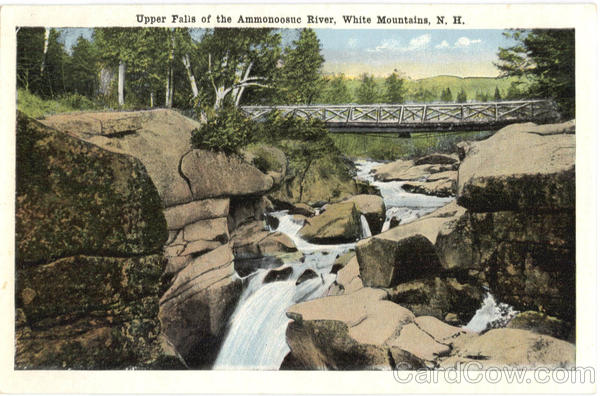 Upper Falls of the Ammonoosuc River White Mountains New Hampshire