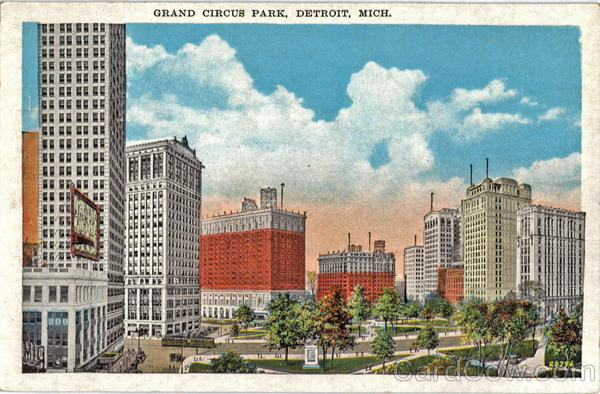 Grand Circus Park Detroit Michigan