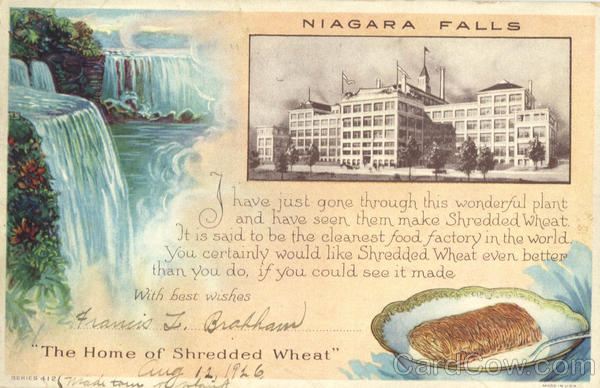 Niagara Falls - Home of Shredded Wheat New York Advertising