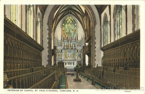 Interior of Chapel, St. Paul's School Concord New Hampshire