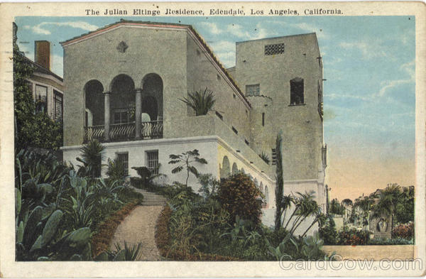The Julian Eltinge Residence, Edendale Los Angeles California