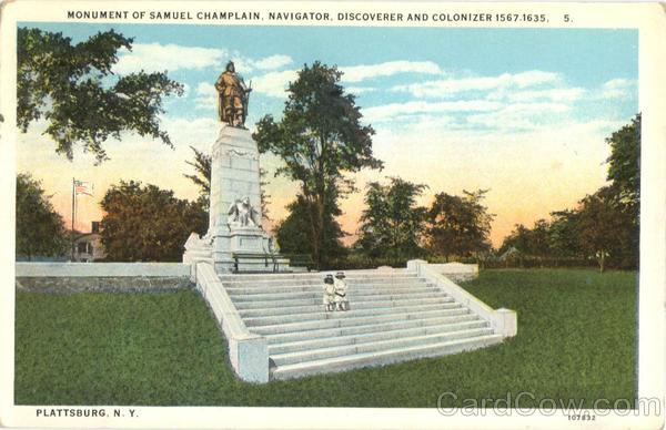 Monument of Samuel Champlain, Navigator, Discoverer And Colonizer Plattsburg New York