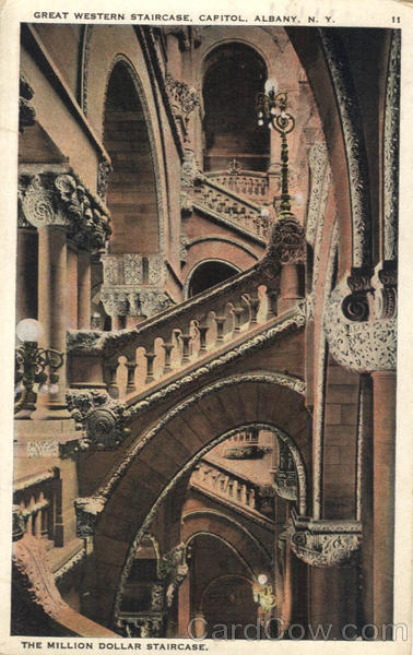 Great Western Staircase, Capitol Albany New York