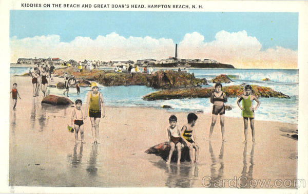 Kiddies On The Beach And Great Boar's Head Hampton Beach New Hampshire