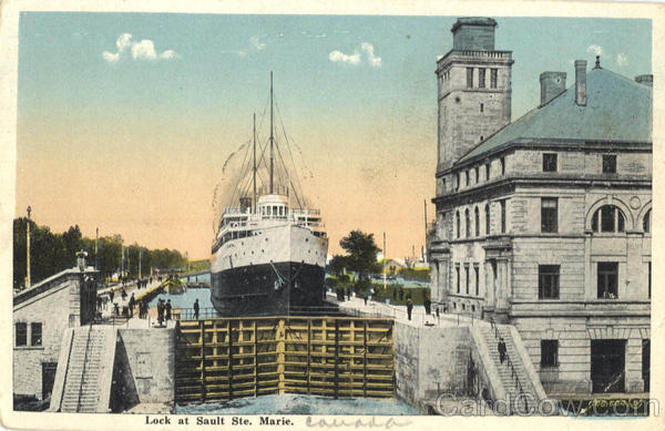 Lock at Sault Ste. Marie ON Canada Ontario