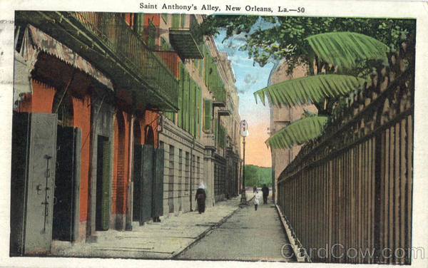 Saint Anthony's Alley New Orleans Louisiana