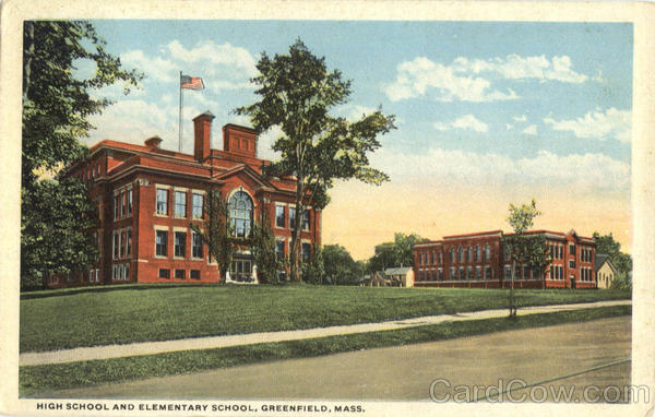 High School and Elementary School Greenfield Massachusetts