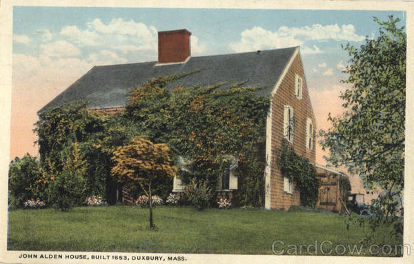 John Alden House, Built 1653 Duxbury Massachusetts