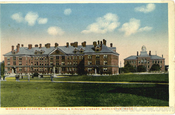 Worcester Academy, Dexter Hall & Kingsly Library Massachusetts