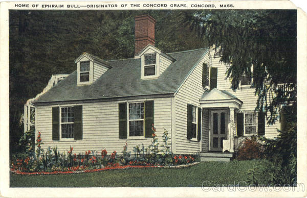 Home of Ephraim Bull Concord Massachusetts