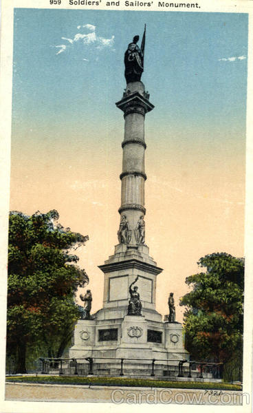 Soldiers' and Sailors' Monument Boston Massachusetts