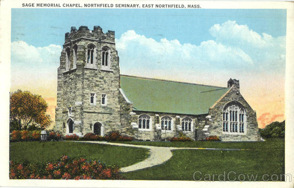 Sage Memorial Chapel, Northfield Seminary East Northfield Massachusetts
