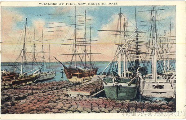 Whalers at Pier New Bedford Massachusetts