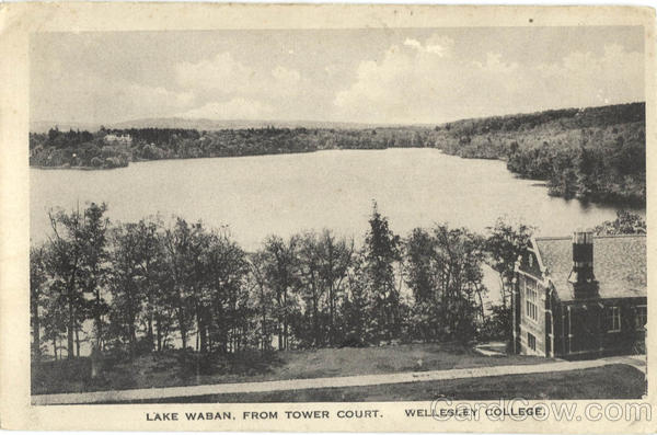 Lake Waban from Tower Court, Wellesley College Massachusetts