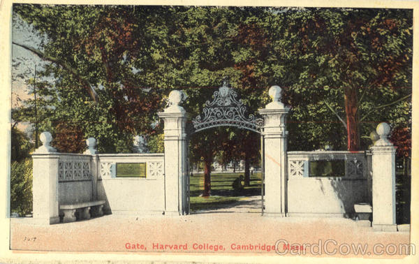 Gate, Harvard College Cambridge Massachusetts