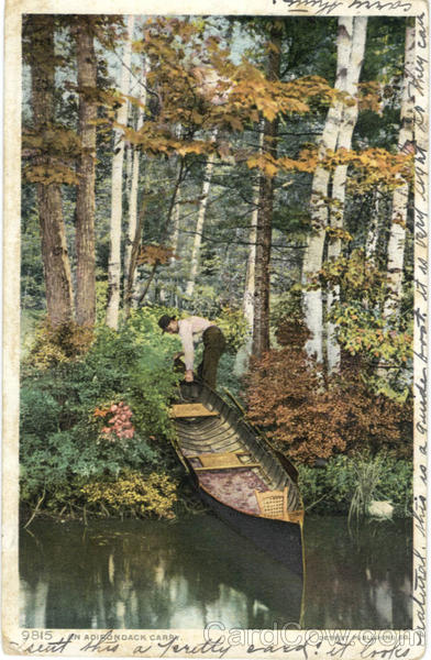 An Adirondack Carry Adirondack Mountains New York Canoes & Rowboats