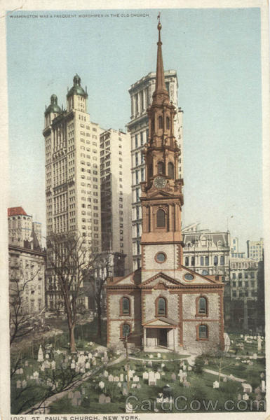Washington Was A Frequent Worshiper In The Old Church, St. Paul's Church New York City