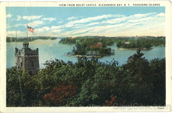 View From Boldt Castle, Alexandria Bay Thousand Islands New York