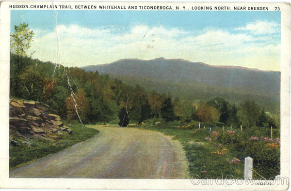 Hudson-Champlain Trial Between Whitehall And Ticonderoga Looking North Dresden New York