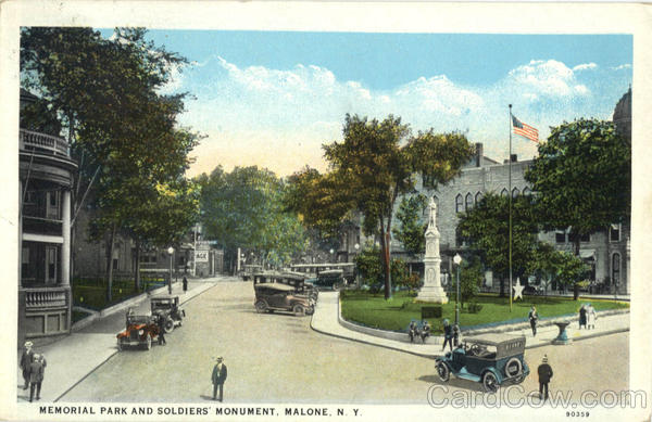 Memorial Park And Soldiers' Monument Malone New York
