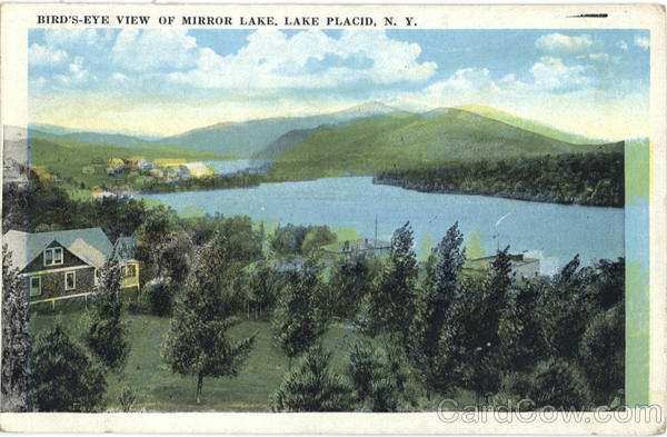 Bird's Eye View of Mirror Lake Lake Placid New York