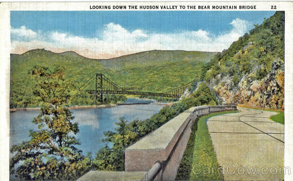 Looking Down The Hudson Valley To The Bear Mountain Bridge Hudson River New York
