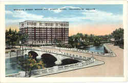 Meridian Street Bridge and Marott Hotel