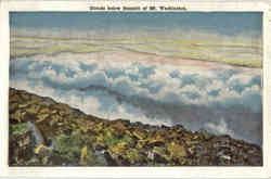 Clouds below Summit of Mt. Washington Postcard