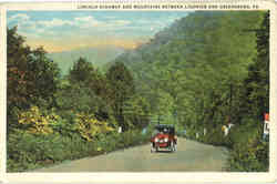 Lincoln Highway and Mountains between Ligonier and Greensburg