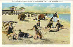 On the Beach, The Sunshine City, Pass-A-Grille Postcard