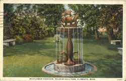 Mayflower Fountain, Pilgrim Hall Park