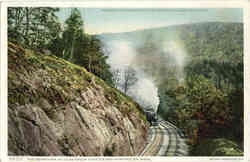 The Berkshire Hills between Chester and Huntington Postcard