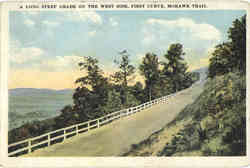 A Long Steep Grade on the West Side, First Curve, Mohawk Trail