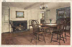 Dining Room of The House of the Seven Gables Postcard