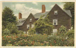 Garden View, The House of Seven Gables Postcard