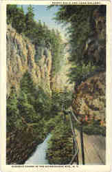 Board Walk And Long Gallery, Ausable Chasm In The Adirondack Mts Postcard