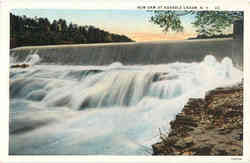 New Dam at Ausable Chasm Postcard