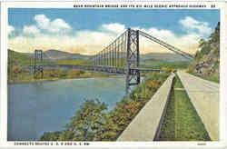 Bear Mountain Bridge And Its 3 & half Mile Scenic Approach Highway